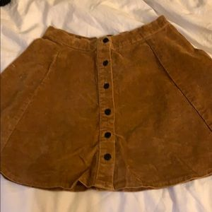 Brandy Melville tan skirt